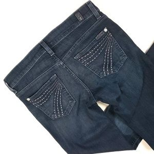 7 For All Mankind Dojo Jeans 26 Dark Wash Crystals